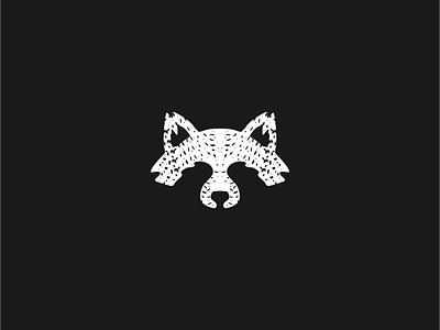 Raccoon black  white animal branding logotype icon creative design logo raccoon