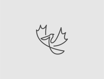 Pelican bird logo bird creative design abstract icon lines minimal simple logo pelican