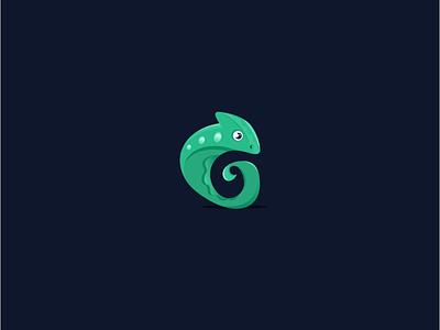 Chameleon c letter logo c letter g logo g letter chameleon vector logo logotype abstract animal icon design creative
