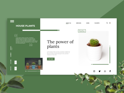 House Plants Landing Page