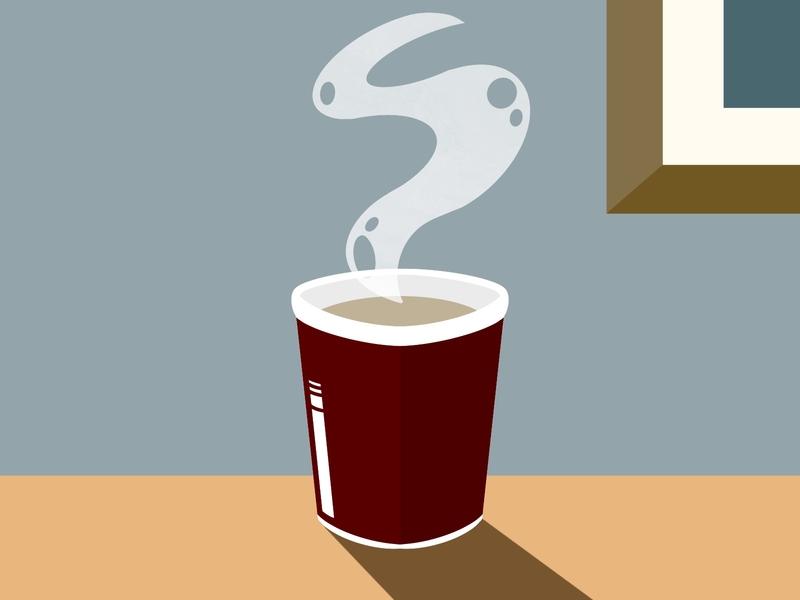 Coffee design coffee cup coffee block colour procreate illustration