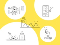 Playcook icons icon set outline icon icon design symbol mark minimal website ui web design icon illustration vector flat