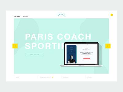 Eptamel Website design web homepage pastel minimal interface website ui