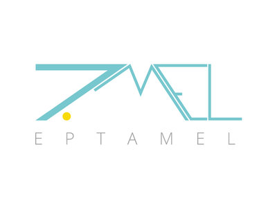Eptamel Logo yellow web typography logotype logo green eptamel branding agency