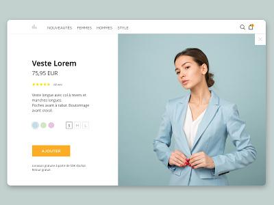 Homepage web fashion ecommerce mode minimalist home clothes clothing homepage