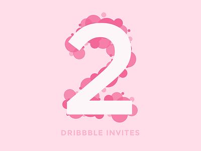 2 invites giveaway invitation giveaway dribbble invites
