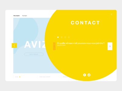 Contact page form mail adresse formulaire yellow website minimal ux ui contact design