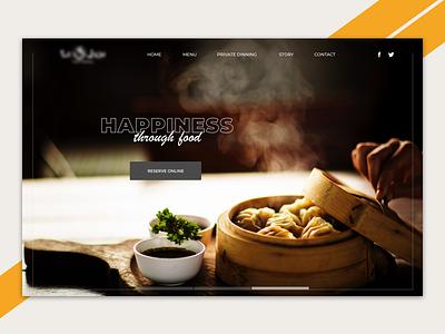 Restaurant homepage slider desktop food cooking japanese restaurant home challenge ux ui design homepage