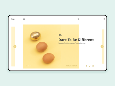 Homepage Eggs eggs yellow interface challenge minimalist homepage ux ui design