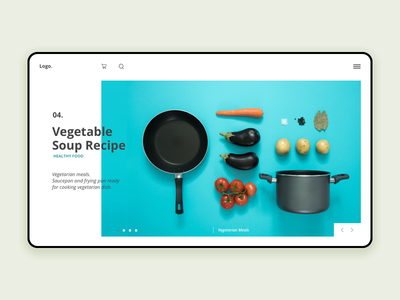 Homepage Recipe cook recipe blue interface challenge minimalist homepage ux ui design