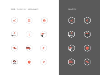 SMSE Iconography shop travel identity mobile ui iconography icon set icon design app