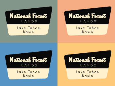 Lake Tahoe Basin evergreen california signage 70s lettering