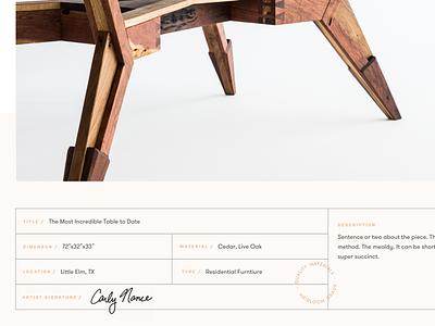 Springer Teaser gallery layout furniture portfolio label