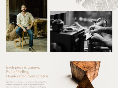 Springer Design Studio Homepage carpentry craftsman artisan layout design ui homepage