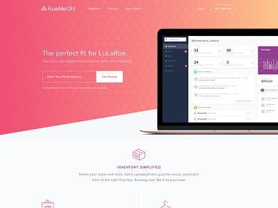 RoeMeOh! Homepage dashboard ecommerce fashion application design ui