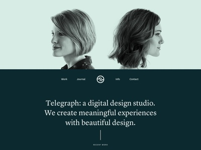 Telegraph Creative  layout design ui agency