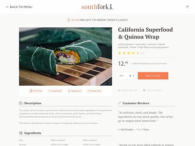 Southfork Menu google fonts pt serif azo sans e-commerce web app ui design app menu food