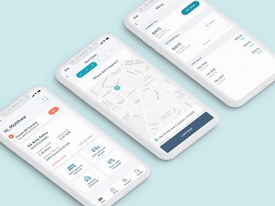 Insurance iOS app auto insurance ux ui product design ios