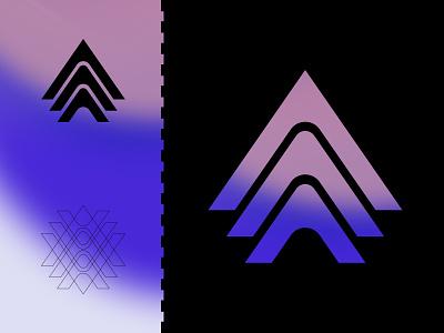 Ampelmann logo design illustration ui gradient flat minimal vector branding logo icon design