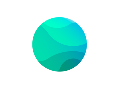 fizz isotype circle blue green gradient color world icon design isotype logotype logo brand