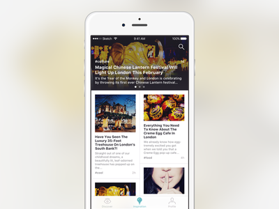 News feed concept vol. 1 feed post news ux ui mobile app