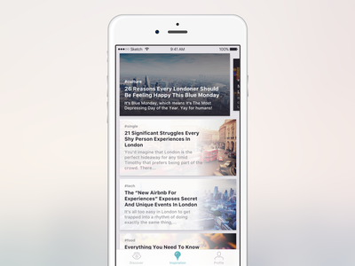 News feed concept vol. 3 ux ui post news mobile feed app