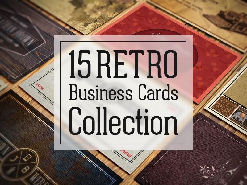 15 Authentic Retro and Vintage Business Cards Collection by ...