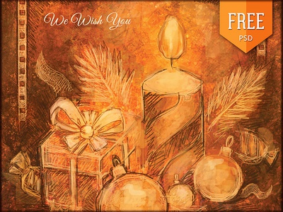 Free Handmade Christmas Flyer Vol. 2