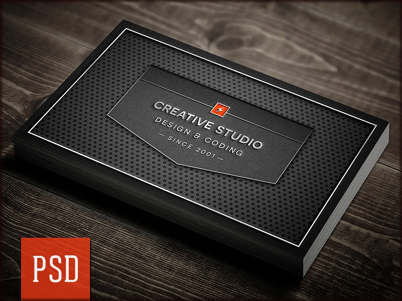 Creative Studio Carbon Business Card PSD Template by Digital Space ...
