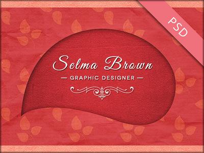 Retro Designer Business Card PSD Template