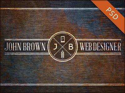 Web Designer Business Card PSD Template
