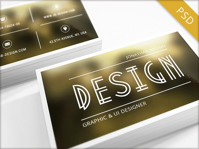 15 Clean and Minimal Business Cards Collection - Part 1