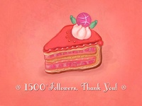 1500+ Followers Celebration Cake