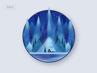 Free Polygonal Winter Background winter new year christmas print low poly photoshop background template free psd psd freebie free