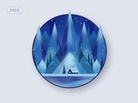 Free Polygonal Winter Background