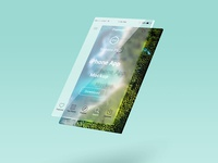 Glass Layer Psd Ui Mock Up