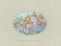 A Castle in the Mountains - Fragment. Day Version