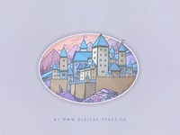 A Castle in the Mountains - Fragment. Night Version