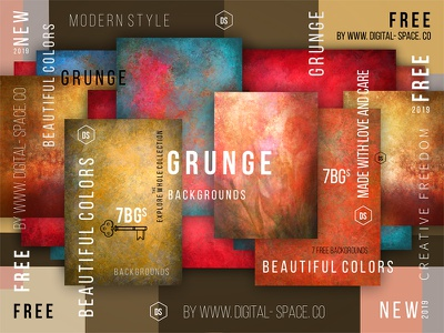 7 Free Bold And Energetic Grunge Backgrounds texture hand drawn painting digital painting art background template free psd freebie free photoshop psd