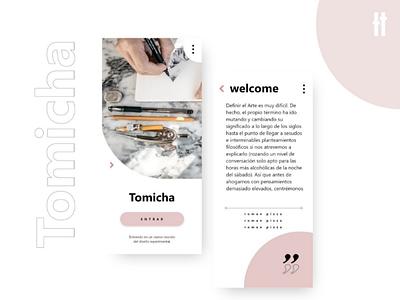 Tomicha Movil Page web land movil black pink
