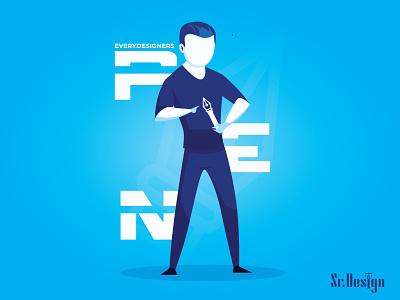 DesignerTool illustraion blue designs design art designer art pen artist dribbble flatdesign flat illustration art branding logos artwork simple illustration vector design