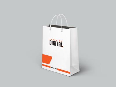 Shopping Bag Of Digital shopping