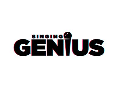 Singing Logo Design new singing illustrator dribble effect glitch illustration design flatdesign app icon typography branding logos flat logo