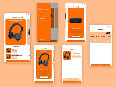 Shopping App Ui Prototype Design shopping app app design music bag speaker headphone dribbble uidesign xd design website animation web app icon typography branding ui ux flatdesign design