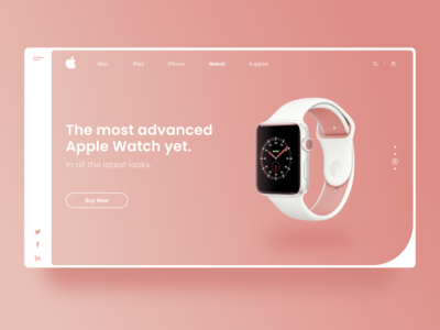 Apple Watch Landing Page redesign apple design webdesign clean ui clean design apple watch landingpage landingpage webdesign uiux adobexd ux uiux ui
