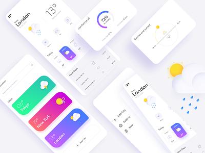 Weather App Design app design weather app app uiux app ui design app android typography design branding appdesign ux adobexd uiux ui