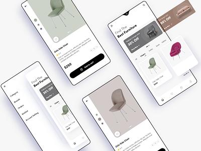 Furniture App Design furniture app funiture figmadesign figma icon typography android design app adobexd ui ux uiux appdesign