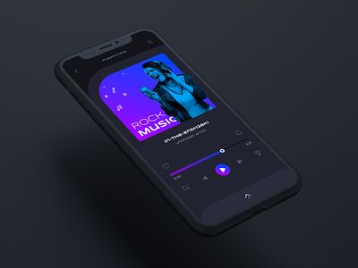 Daily UI Design Challenge   Day 09   Music Player darkui darktheme dark graphic design musicplayer music figma mockup 3d branding illustration logo appdesign design landingpage webdesign uiux ux uiux ui