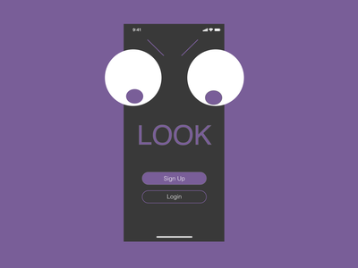 Fun Login Screen mobile ui black random ux ui purple mobile app design sign in dark fun ios