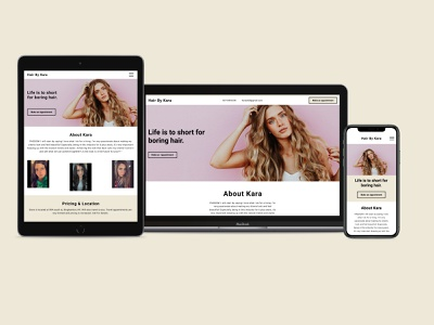 Responsive Website figma design ux  ui uxdesign clientwork freelance figma mobile simplicity responsive website responsive design macbook salon pink ios design simple ux ui
